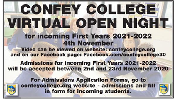 Confey College Open Night 2020