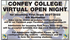 Confey College Open Night 2020