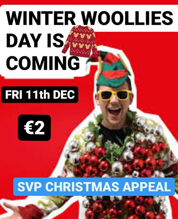 WINTER WOOLLIES NON UNIFORM DAY -VIRTUAL FOOD APPEAL- SVP - FRI 11th DEC