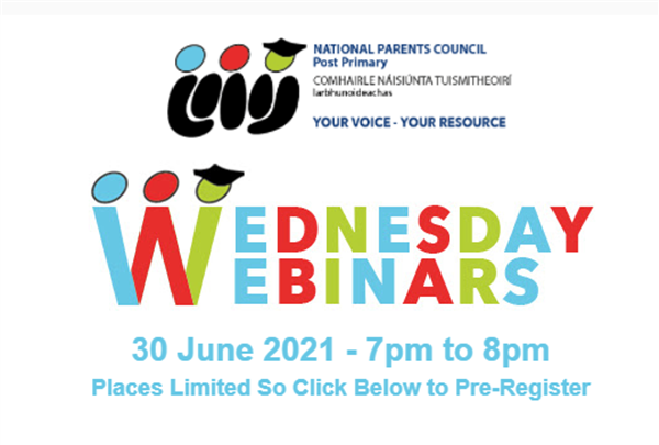 National Parents Council - Wednesday Webinars